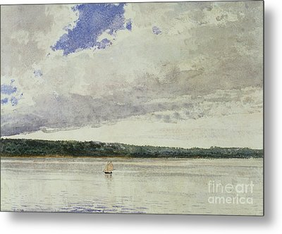 Small Sloop On Saco Bay Metal Print