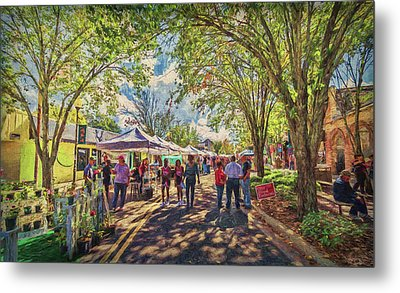 Metal Print featuring the photograph Small Town Festival by Lewis Mann