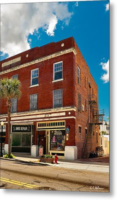 Small Town Shops Metal Print by Christopher Holmes