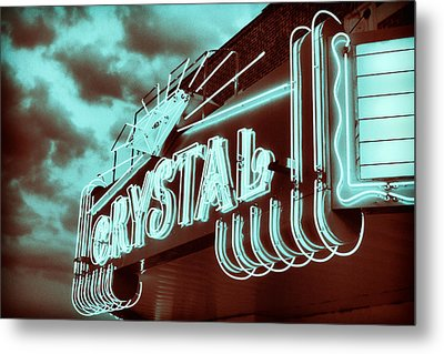 Small Town Theater Metal Print by Tony Grider