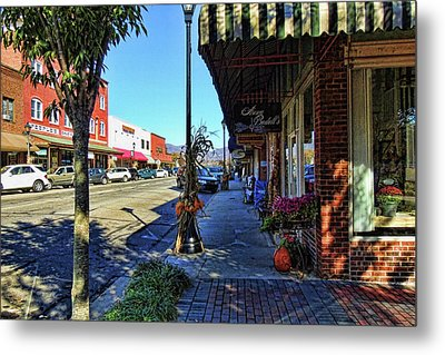 Small Town U. S. A. Metal Print by HH Photography of Florida