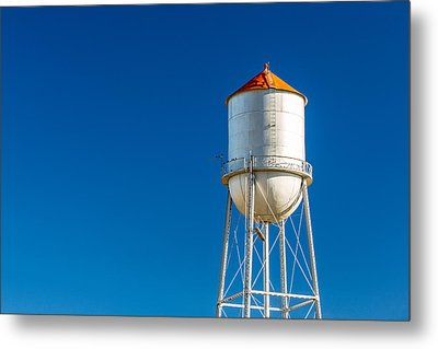 Small Town Water Tower Metal Print by Todd Klassy
