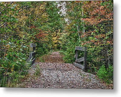 Metal Print featuring the photograph Small Trestle Along Rail Trail by Jeff Folger