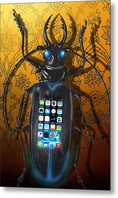 Smart Phone Metal Print by Larry Butterworth