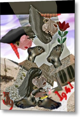 Smell My Feet Metal Print by Marcia Kaye Rogers