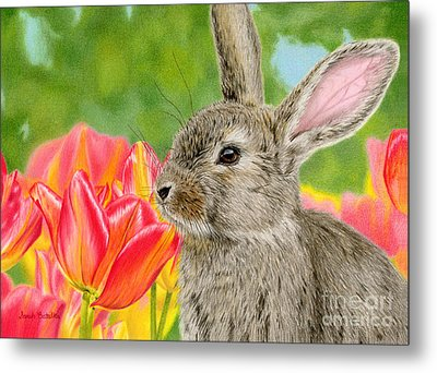 Smell The Flowers Metal Print by Sarah Batalka