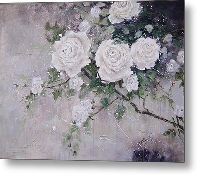 Smell The Roses  Metal Print by Laura Lee Zanghetti