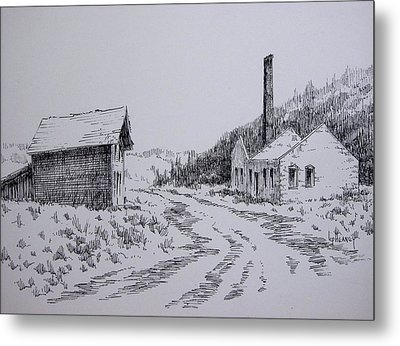 Smelter Ruins Glendale Ghost Town Montana Metal Print by Kevin Heaney