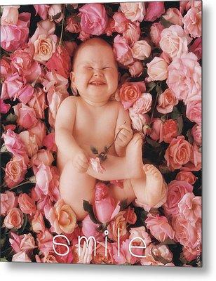 Smile Metal Print by Anne Geddes