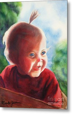 Metal Print featuring the painting Smile by Marilyn Jacobson