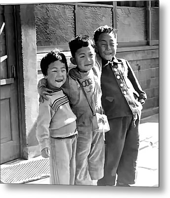 Smiles From Korea Year 1955 Metal Print by Dale Stillman