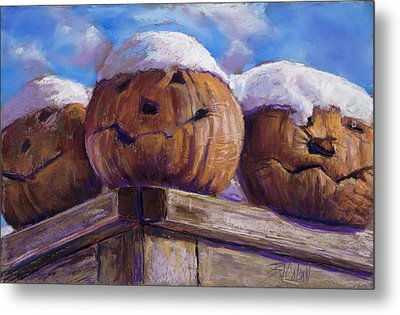 Metal Print featuring the pastel Smilin Jacks by Billie Colson