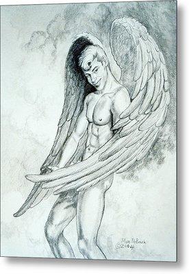 Smiling Angel Metal Print