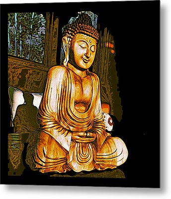 Metal Print featuring the photograph Smiling Buddha by Paul Cutright