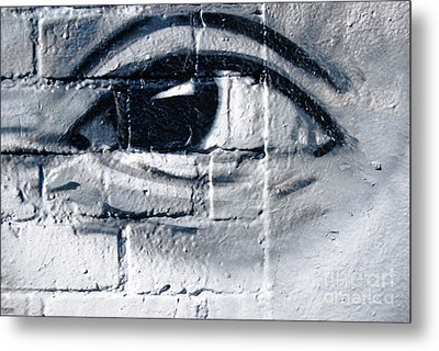 Metal Print featuring the painting Smiling Graffiti Eye by Yurix Sardinelly