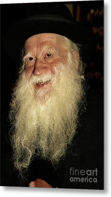 Smiling Picture Of Rabbi Yehuda Zev Segal Metal Print