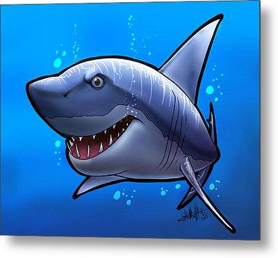 Smiling Shark Metal Print by Tim Michael Ufferman