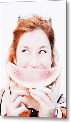 Smiling Summer Snack Metal Print by Jorgo Photography - Wall Art Gallery