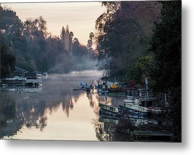 Smith Canal In Winter Metal Print