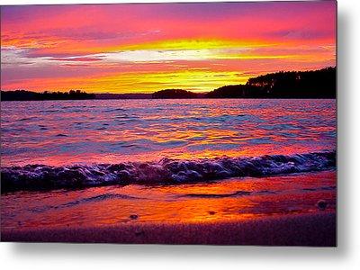 Smith Mountain Lake Surreal Sunset Metal Print