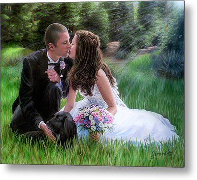 Smith Wedding Portrait Metal Print by Jane Girardot