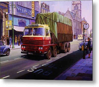 Smith's Scammell Routeman II Metal Print by Mike  Jeffries