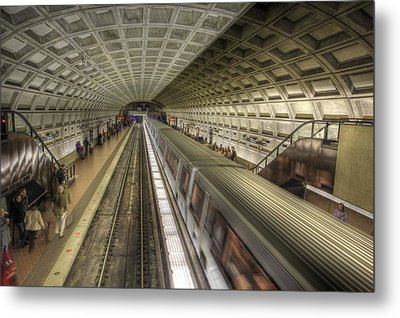 Smithsonian Metro Station Metal Print by Shelley Neff