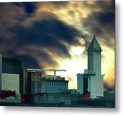 Metal Print featuring the photograph Smithtower Moon by Dale Stillman