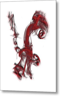 Smoke 01 Red Metal Print
