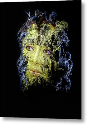 Smoke And Mirror Metal Print