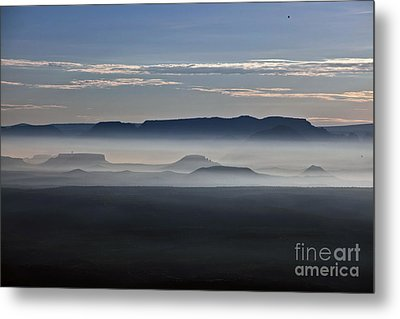 Metal Print featuring the photograph Smoke From Wildfires After Sunrise In The Verde Valley by Ron Chilston