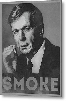 Smoke Funny Obama Hope Parody Smoking Man Metal Print