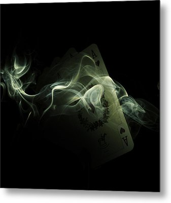 Smoke Metal Print by Ivan Vukelic