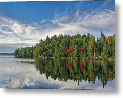 Smoke Lake Metal Print by Irwin Seidman