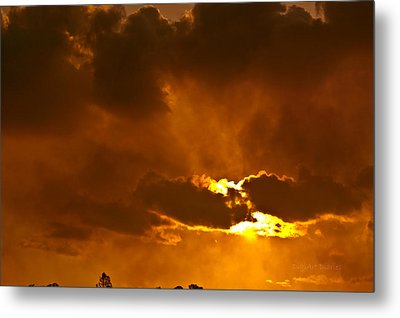 Smoke On The Horizon Metal Print by DigiArt Diaries by Vicky B Fuller
