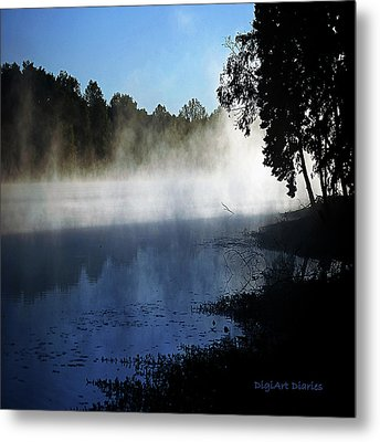 Smoke On The Water Metal Print by DigiArt Diaries by Vicky B Fuller