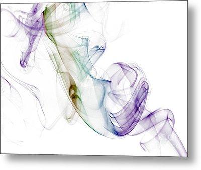 Smoke Seahorse Metal Print