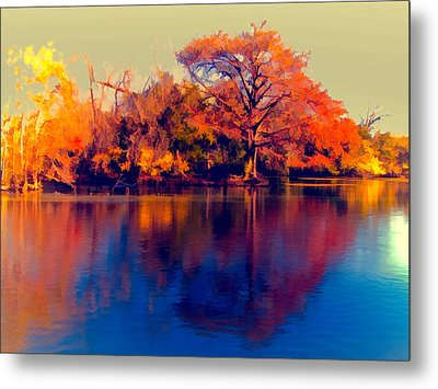Metal Print featuring the digital art Smoke Signals by Wendy J St Christopher