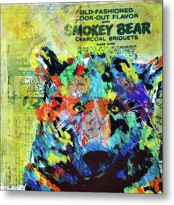 Smokey Bear Metal Print by Lisa McKinney
