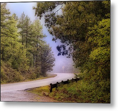 Smokey Mountain Road Metal Print by Shirley Dawson
