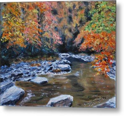 Smokey Mountains Autumn Metal Print by Stanton D Allaben