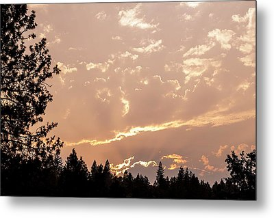 Smokey Skies Sunset Metal Print