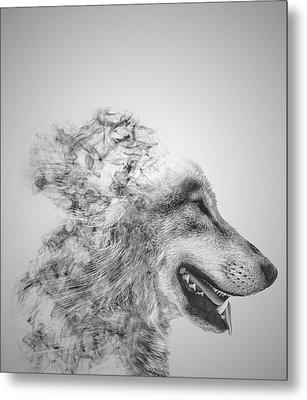 Smokey Wolf Metal Print