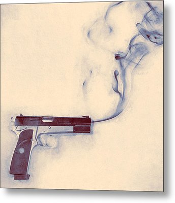 Smoking Gun Metal Print by Scott Norris