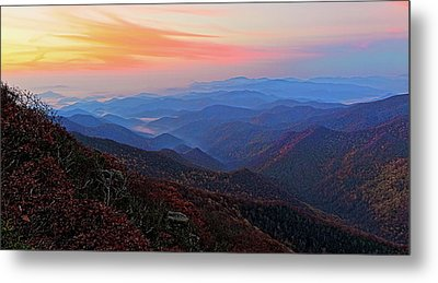 Dawn From Standing Indian Mountain Metal Print
