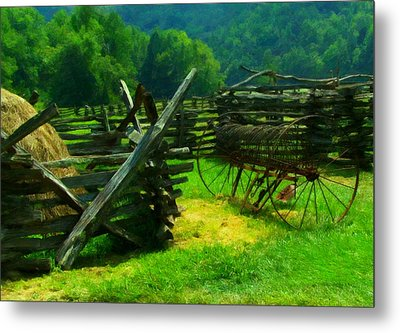 Smoky Mountain Farm 1900s Metal Print by Chris Flees
