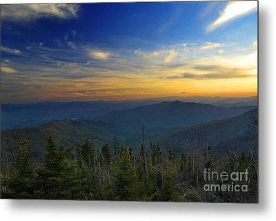 Smoky Mountain Sunset Metal Print