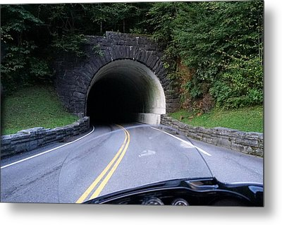 Smoky Mountain Tunnel Metal Print by Laurie Perry