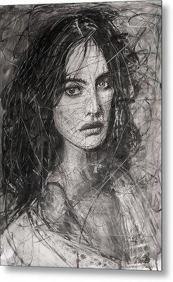 Smoky Noir... Ode To Paolo Roversi And Natalia Vodianova  Metal Print by Jarko Aka Lui Grande