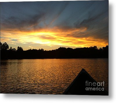 Smoldery Sunset Metal Print
